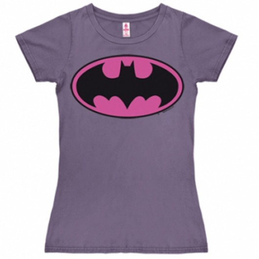 Batman logo roze shirt dames violet