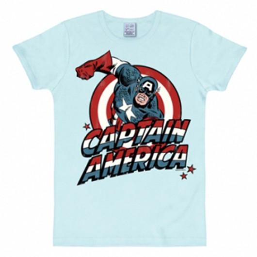 Captain America shirt heren slim fit blauw