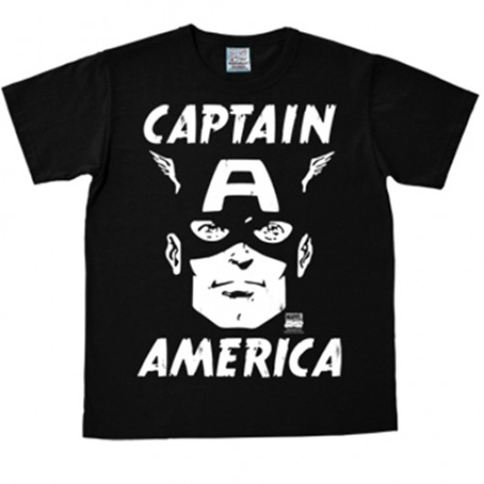 Captain America portrait shirt heren slim fit