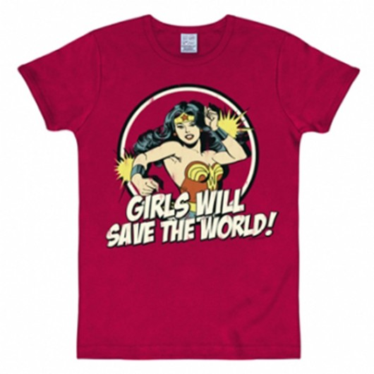 Wonder Woman Girls will save shirt heren slim fit