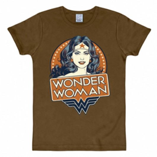 Wonder Woman portrait shirt heren slim fit
