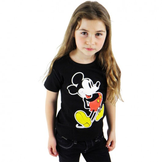 Disney Mickey Mouse Logoshirt kinder t-shirt zwart