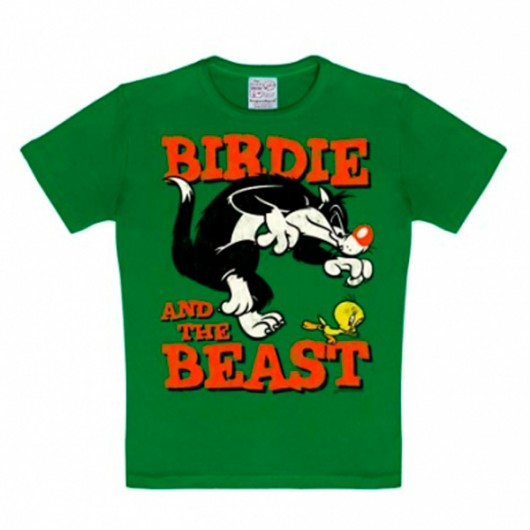 Looney Tunes Birdie and the Beast Logoshirt kinder t-shirt groen