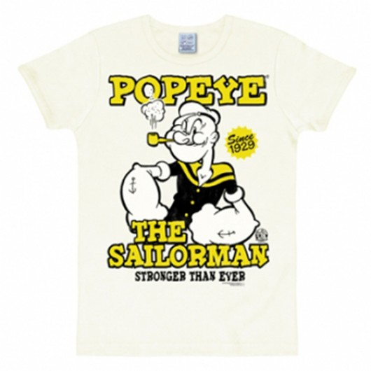Popeye The Sailorman shirt heren slim fit wit