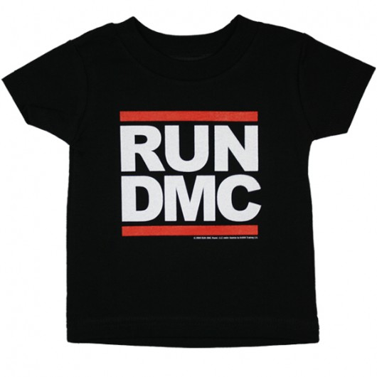 RUN DMC Logo baby t-shirt zwart