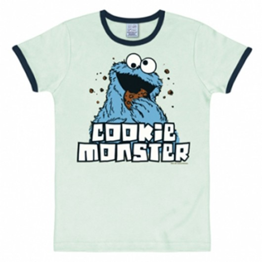 Sesamstraat Koekiemonster shirt heren slim fit blauw
