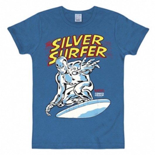 Silver surfer shirt heren slim fit blauw