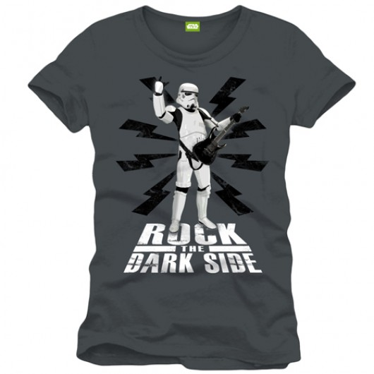 Star Wars Rock the dark side shirt heren grijs