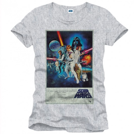 Star Wars affiche shirt heren grijs