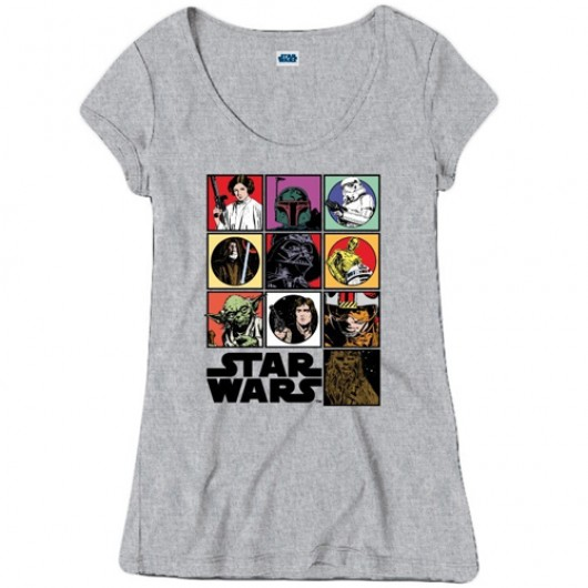 Star Wars icons shirt dames