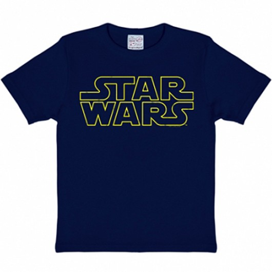 Star Wars logo kinder shirt navy