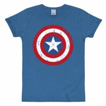 Captain America schild shirt heren slim fit